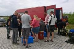 Lunch bij de tweede duikstek aan het Veerse Meer