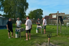 Tijdens de barbecue