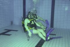 Oefening kramp verhelpen onderwater
